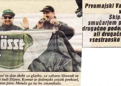 Prvomajsko smučanje – Val Thorens 1995
