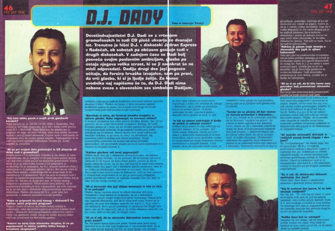 Revija Salomon – intevju DJ Dady 1998