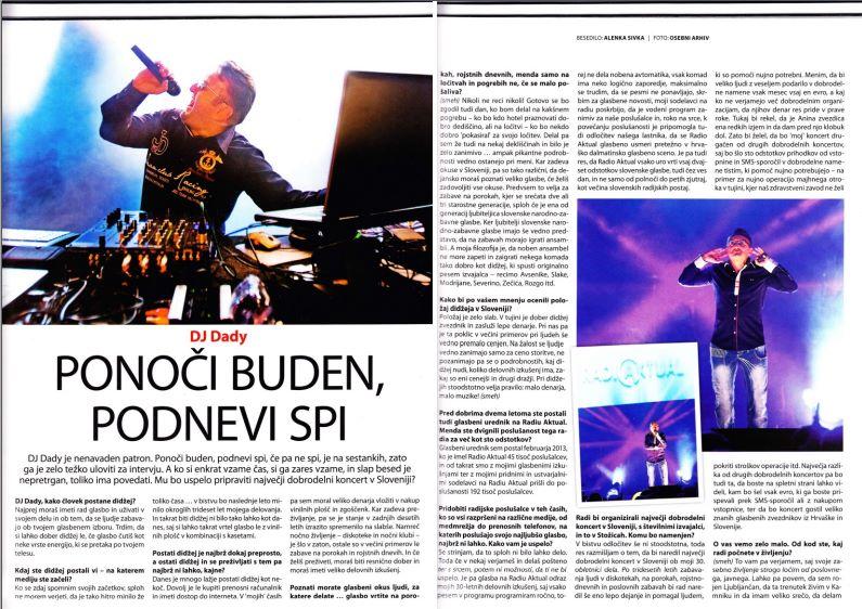 DJ Dady – 30 let nepozabnih zabav (revija Avenija 2016)