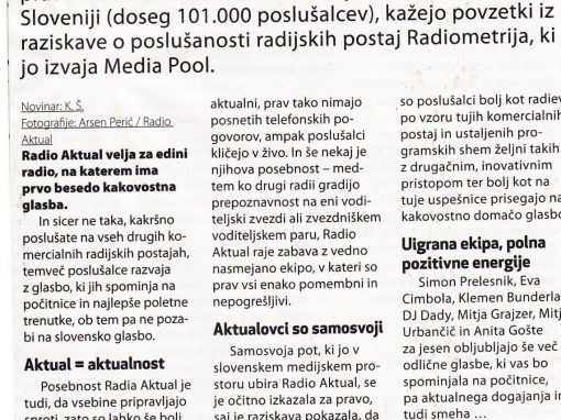 Radio Aktual – zgodba o uspehu (sept. 2013)