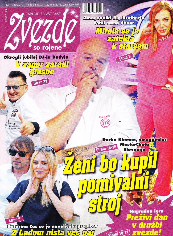 Dj Dady na naslovnici revije Zvezde